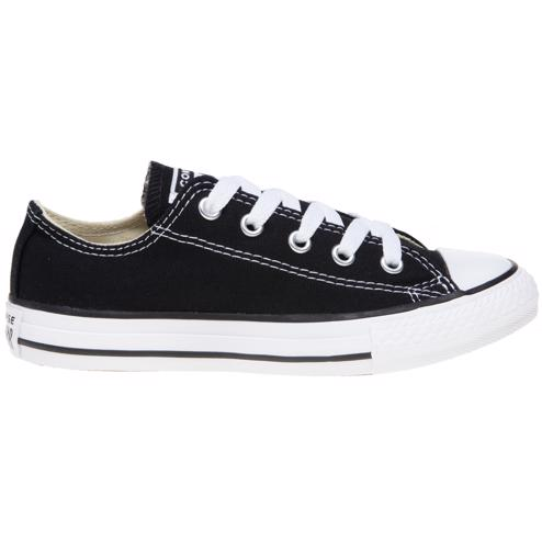 Details zu Neu KINDER CONVERSE SCHWARZ ALL STAR OX LEINEN SNEAKER CANVAS