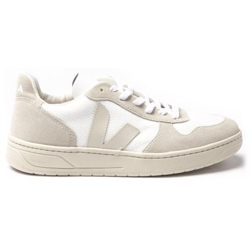 white natural Veja V10 B Mesh Trainers